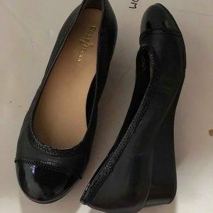 COLE HAAN Sadie Wedge Black Size 5.5 #86 $125